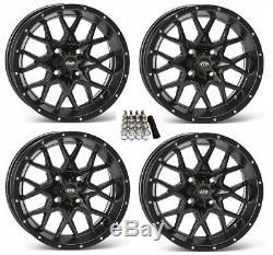 ITP Hurricane UTV Wheels/Rims Matte Black 15 Polaris RZR 1000 XP (4)
