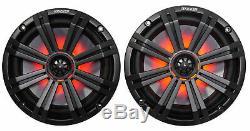 Kicker KM8 8 600 Watt Dual LED Tower Speakers For Polaris RZR/ATV/UTV/Cart/Jeep