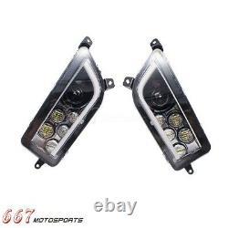 LED Headlights Kit Headlamp DRL For Polaris General RZR XP 1000 Turbo 2014-2020