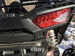 LED Tail Lights With REVERSE LIGHTS 14-18 POLARIS RZR 1000 XP & S backup red
