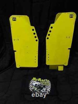 Lime Polaris rzr 1000xp rear floor guards turbo xpt tank protectors plates