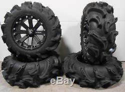MSA Black Kore 14 UTV Wheels 27 Mega Mayhem Tires Polaris Ranger 900 XP