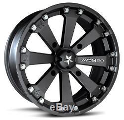 MSA Black Kore 14 UTV Wheels 27 Swamp Lite Tires Polaris Ranger 900 XP