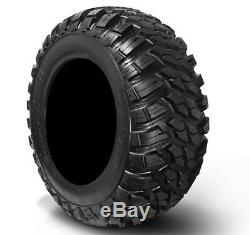 MSA Black Kore 14 UTV Wheels 28 Kanati Mongrel Tires Polaris Ranger 900 XP