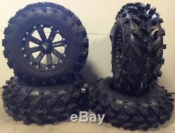 MSA Black Kore 14 UTV Wheels 28 Swamp Lite Tires Polaris Ranger 900 XP