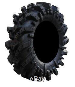 MSA Black Kore 14 ATV Wheels 28 Mega Mayhem Tires Bundle 4x137 Bolt Pattern 10mmx1.25 Lug Kit 9 Items