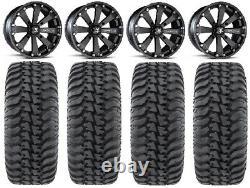 MSA Black Kore 14 UTV Wheels 30 Regulator Tires Polaris RZR XP 1000 / PRO XP