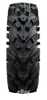 MSA Black Vibe 14 UTV Wheels 30 Intimidator Tires Polaris RZR 1000 XP