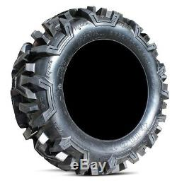MSA Black Vibe 18 UTV Wheels 32 Moto MTC Tires Polaris RZR 1000 XP