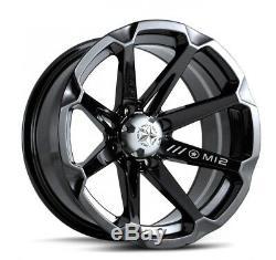 MSA M12 Diesel UTV Wheels/Rims Black 14 Polaris RZR 1000 XP (4)