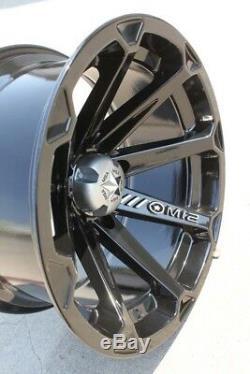 MSA M12 Diesel UTV Wheels/Rims Black 14 Polaris RZR 1000 XP Deep Dish (4)