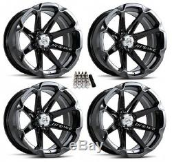 MSA M12 Diesel UTV Wheels/Rims Black 15 Polaris RZR 1000 XP (4)