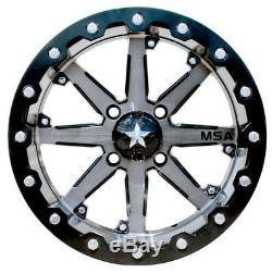 MSA M21 Lok UTV Wheels/Rims Gunmetal 15 Polaris RZR 1000 XP (4)