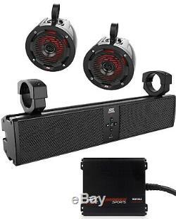 MTX MUD6SPBTKIT Bluetooth Soundbar withAmp Speakers for Polaris RZR UTV/Golf Cart