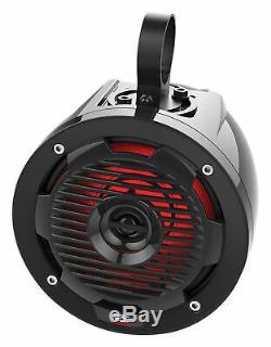 MTX ORVKIT2 (4) Tower Speakers+Amplifier+Wires+Boss Receiver Polaris RZR/ATV/UTV