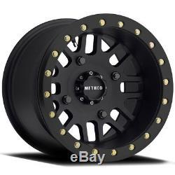 Method 406 Beadlock UTV Wheels/Rims Black 14 Polaris RZR 1000 XP (4)