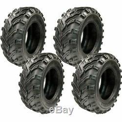 New TG TyreGuider ATV UTV (2) 25x8-12 Front & (2) 25x10-12 Rear 6PR Tire Set