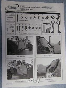 New Utv Polaris Rzr Half Door Kit 570 800 900 Xp Black Finish Doors