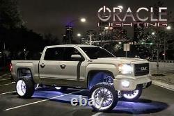 Oracle Lighting 16.5 Double Row White LED Illuminated Wheel Ring Kit Set of 4