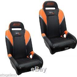 PRP GT S. E. UTV Front Seats (2) Orange Black Polaris RZR XP1000 XP 1000