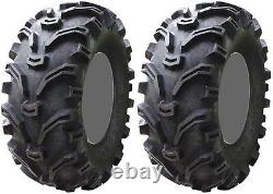 Pair 2 Kenda Bearclaw 25x8-12 ATV Tire Set 25x8x12 K299 25-8-12