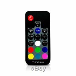 Pair 4FT Lighted Spiral LED Whip Antenna 2 Flag Remote For ATV Polaris RZR UTV