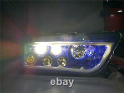 Pair Blue Halo LED Headlight For 2014-2017 Polaris General RZR 1000 900 XP Turbo