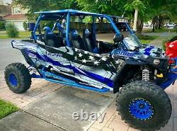 Polaris RZR 4 XP 1000 4 seater graphics wrap kit American Flag Thin Blue Line