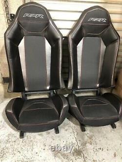 Polaris RZR XP1000 (2)TURBO S SEATS Black/ TITANIUM/ Silver Red Stitch