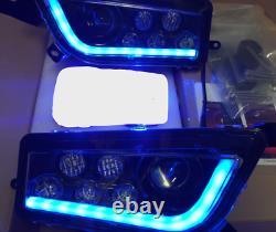Polaris Rzr 900 & S- Black & Blue Angel Eye Led Headlights Halo