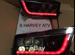 Polaris Rzr 900 S Black & Red Led & Angel Eye Headlights Conversion