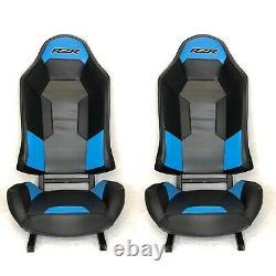 Polaris Turbo S RZR XP1000 900 800 Seats Black/Blue1 Pair BLUE COACHMAN