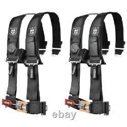 Pro Armor Black 4 Point 3 Harness Seat Belt RZR XP Turbo CanAm X3 UTV Pair