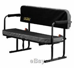QuadBoss Quad Boss UTV ATV SXS Black Rear Bed Jump Seat Bench Universal TX310