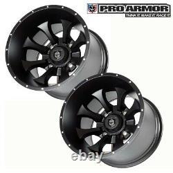 Rear 2x Pro Armor Knight Wheels 15x10 P1510KNBL Dune For Polaris RZR General