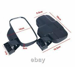 Rear View Mirror Set UTV Side Mirrors 1.75- 2 Clamp Roll Cage For Polaris RZR