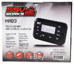 SSV WORKS MRB3 Digital Media Bluetooth Receiver 4 Polaris RZR/ATV/UTV/Cart/Jeep