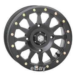 STI HD A1 Beadlock UTV Wheels/Rims Matte Black 14 Polaris RZR 1000 XP (4)