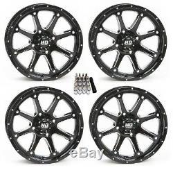 STI HD4 UTV Wheels/Rims Black 15 Polaris RZR 1000 XP (4)