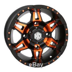 STI HD7 UTV Wheels/Rims Orange/Black 14 Polaris RZR 1000 XP (4)