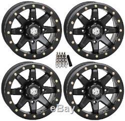 STI HD9 Beadlock UTV Wheels Matte Black 15 (6+1) Polaris RZR 1000 XP (4)