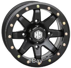 STI HD9 Beadlock UTV Wheels/Rims Matte Black 15 Polaris RZR 1000 XP (4)