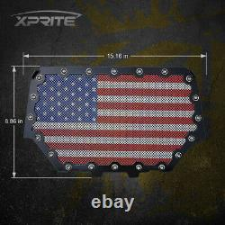 Steel Mesh Front Grille with US Flag for 2014-18 UTV Polaris RZR 900 S & 1000 XP