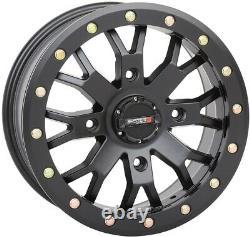 System 3 SB-4 Beadlock Black (6+1) UTV Wheels 15 Polaris RZR Turbo S / RS1 (4)