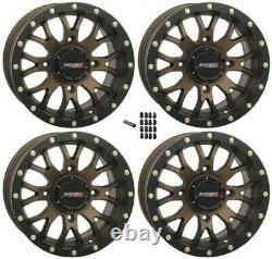 System 3 ST-3 Bronze/Black 14x7 4/156 5+2 UTV SXS Wheel With Black Lug Nuts