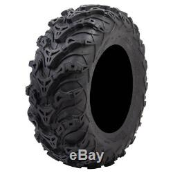 Tusk Mud Force 6 Ply ATV UTV Tire Kit Set (2) 25x8-12 (2) 25x10-12