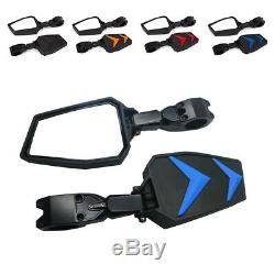 UTV RZR Side Foldable Adjustable Mirrors For 1.75 Polaris RZR S 800 900 XP 1000