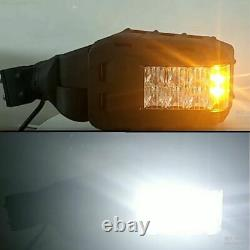 UTV Rear View Side Mirrors Kit with LED Rock Light for Polaris RZR for Can-Am