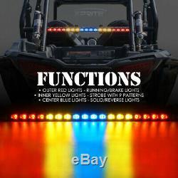 Xprite 30 LED Rear Chase Light Bar for ATV UTV Buggy RZR Running Brake Reverse