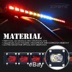 Xprite 30 Rear Chase LED Light Bar with Running Reverse Brake for ATV UTV Buggy